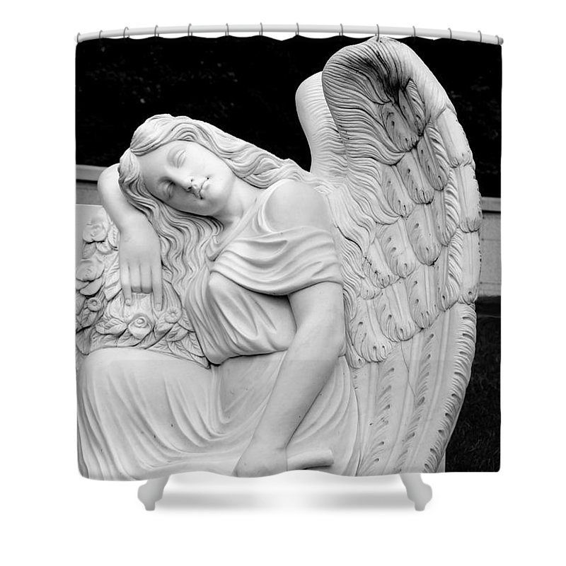 Angel Shower Curtain featuring the photograph Sleeping Angel by Jean Haynes