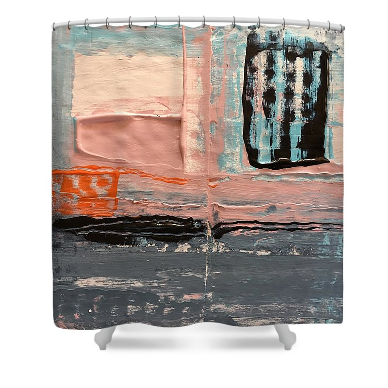 Abstract Shower Curtain featuring the painting Sleepwalk by Dave Love