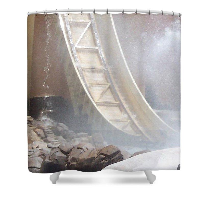Slide Shower Curtain featuring the photograph Slide Splash by Pharris Art