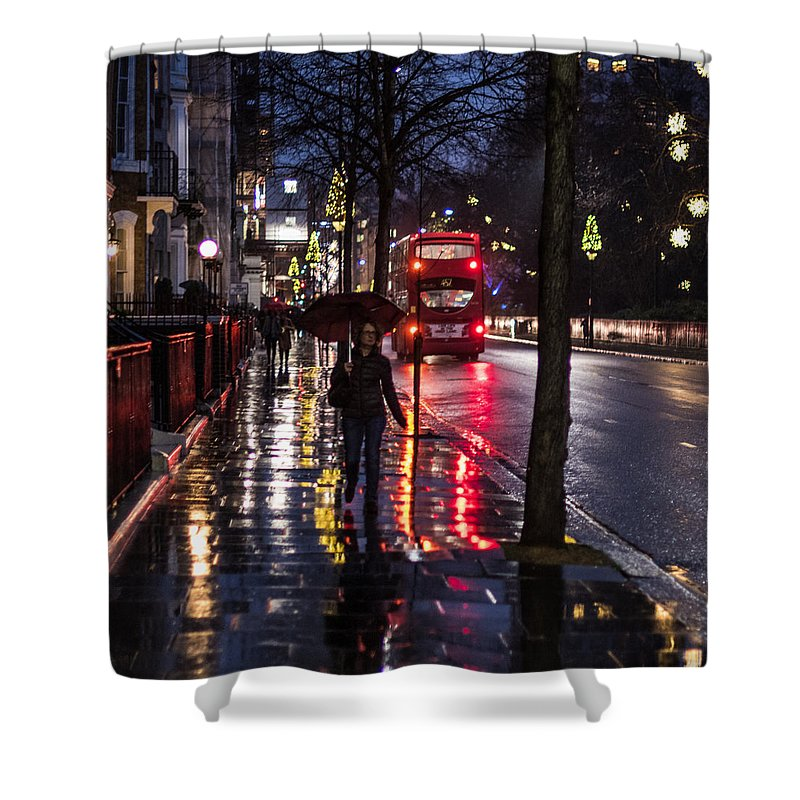 Color Shower Curtain featuring the photograph Sloane Street Square by Matt Malloy