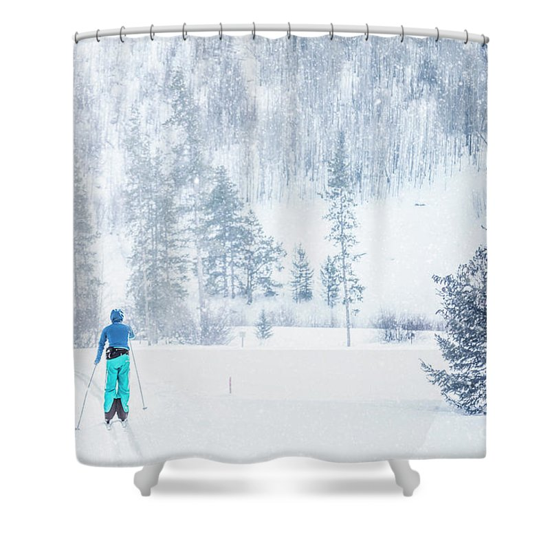 Kremsdorf Shower Curtain featuring the photograph Slopes by Evelina Kremsdorf