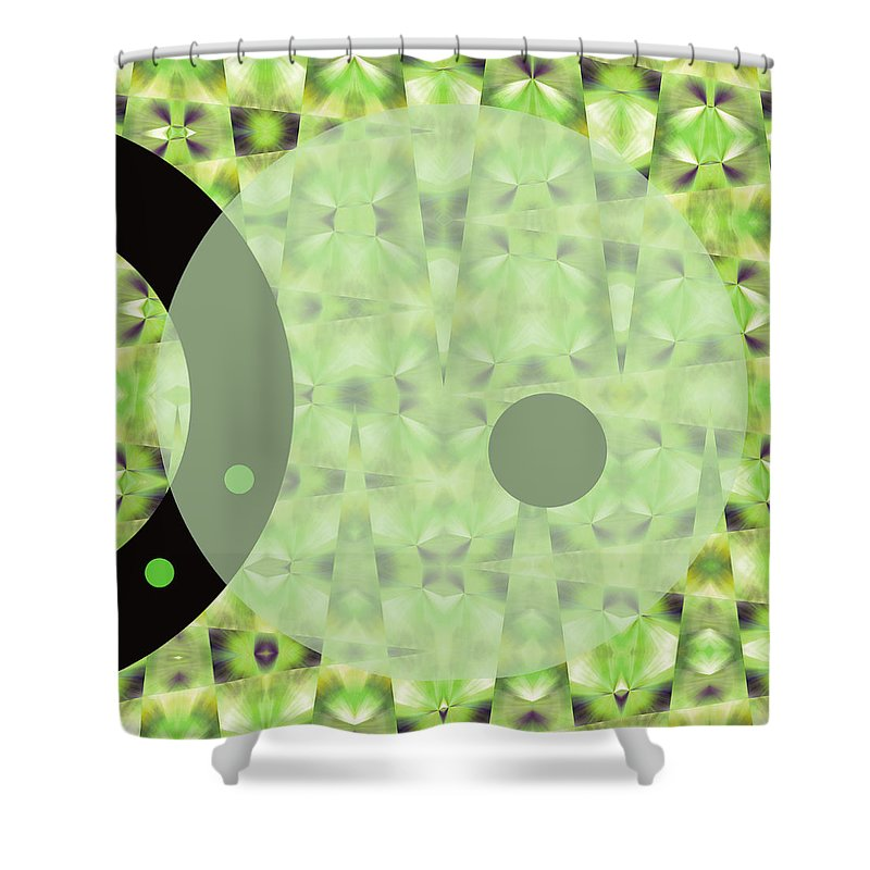 Abstract Shower Curtain featuring the digital art Slow Fade by Ruth Palmer