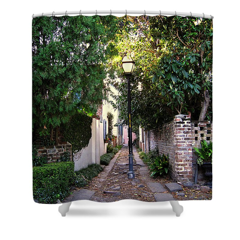 Lane Shower Curtain featuring the photograph Small Lane in Charleston by Susanne Van Hulst