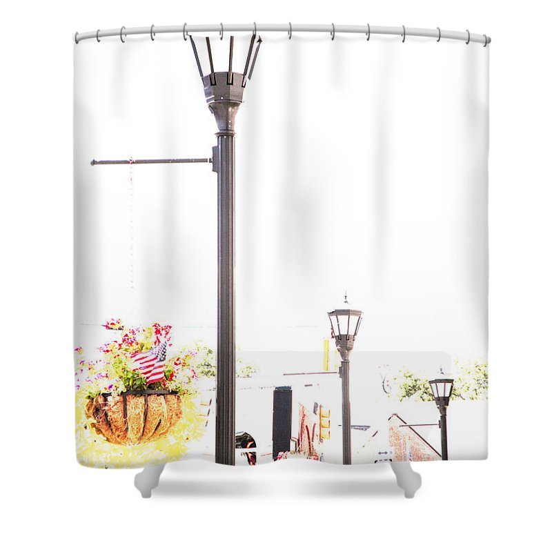 Small Town Shower Curtain featuring the photograph Small Town by Amanda Barcon
