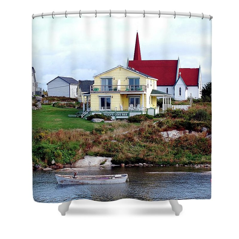 Church Shower Curtain featuring the photograph Small Village by Kathleen Struckle
