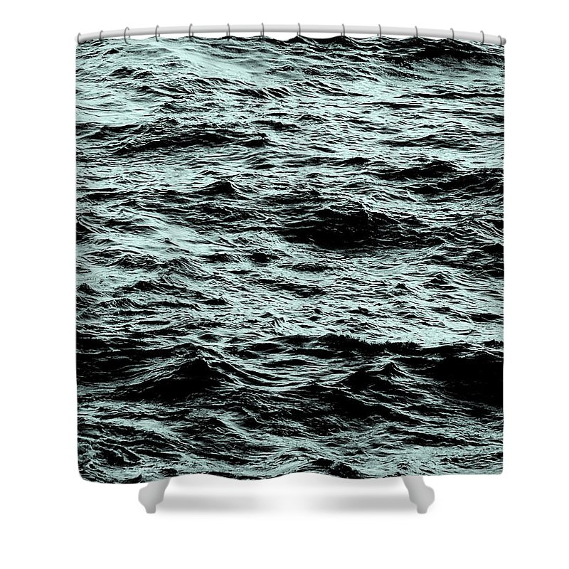 Waves Shower Curtain featuring the photograph Small Waves by Leah Stark