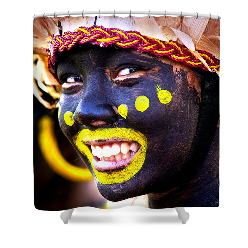 Festival Shower Curtain featuring the photograph Smile by George Cabig