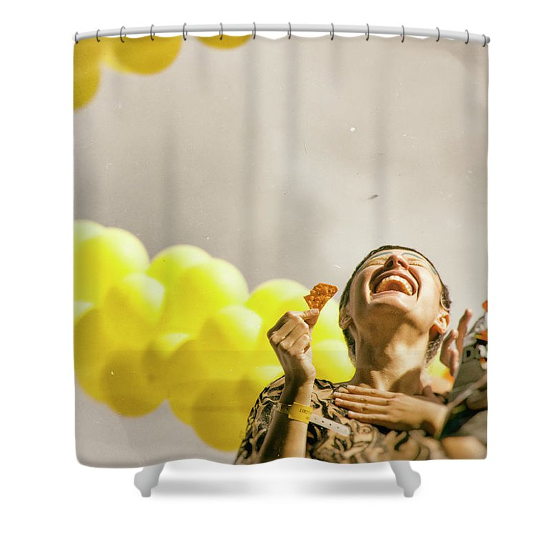 Smile Shower Curtain featuring the photograph Smile by James Conway