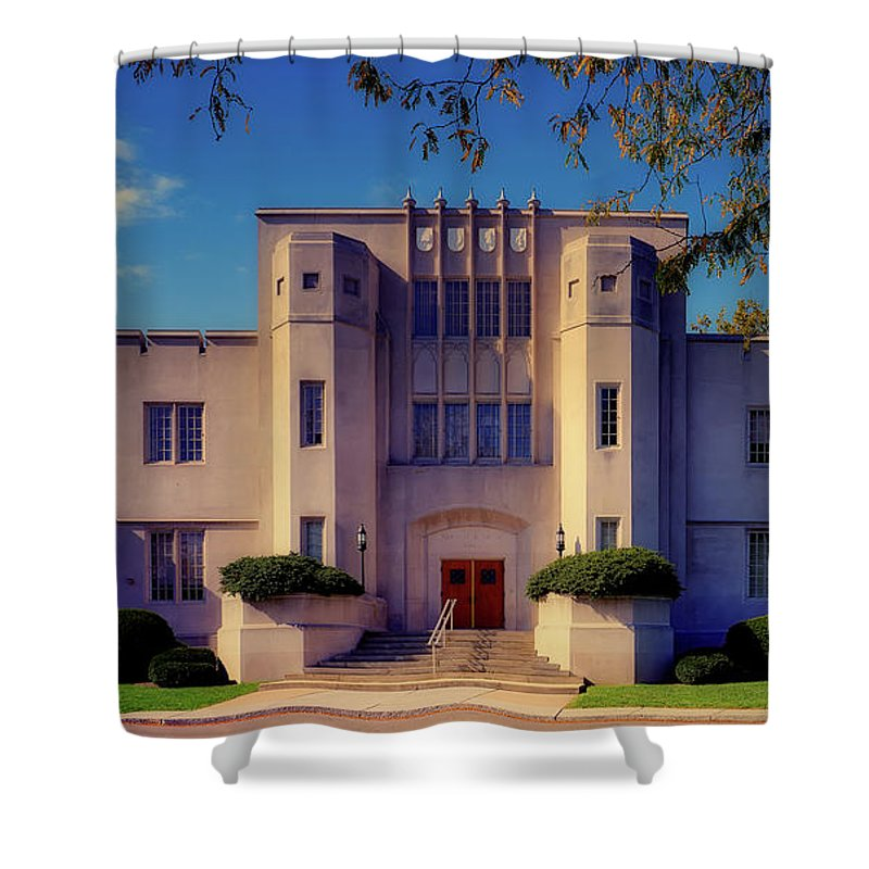 Virginia Military Institute Shower Curtain featuring the photograph Smith Hall - V M I by Mountain Dreams