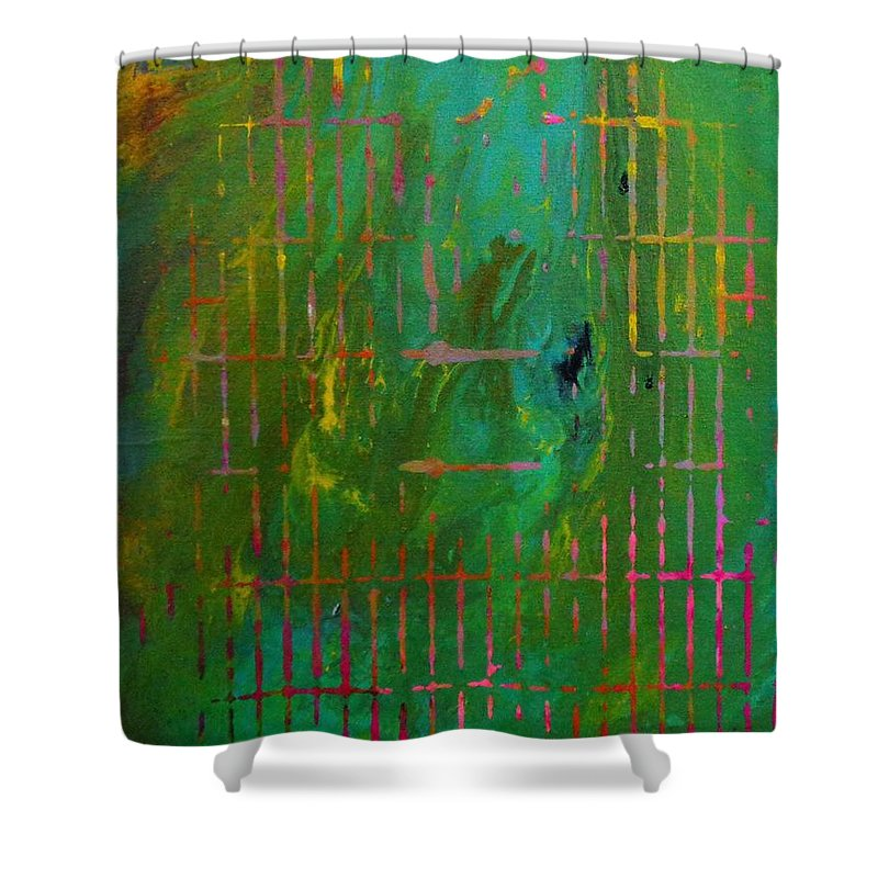 Smog Shower Curtain featuring the painting Smog by Dane Newton