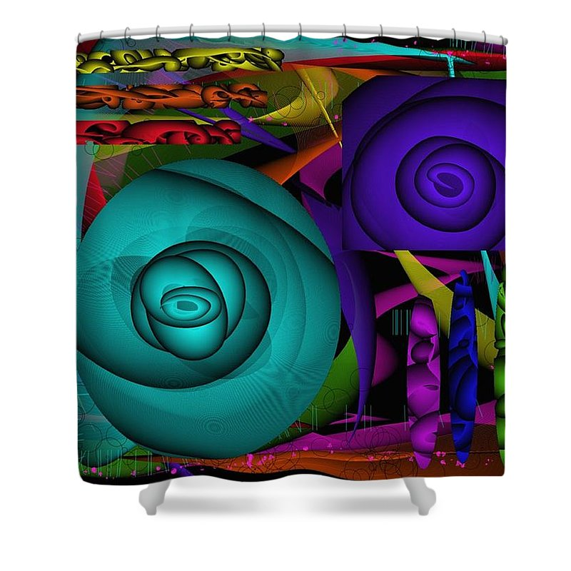 Digital Art Shower Curtain featuring the digital art Smoke And Mirrors by Treesha Duncan