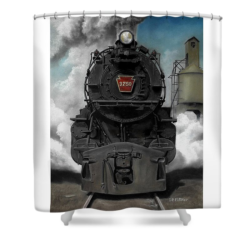 Trains Shower Curtain featuring the painting Smoke And Steam by David Mittner