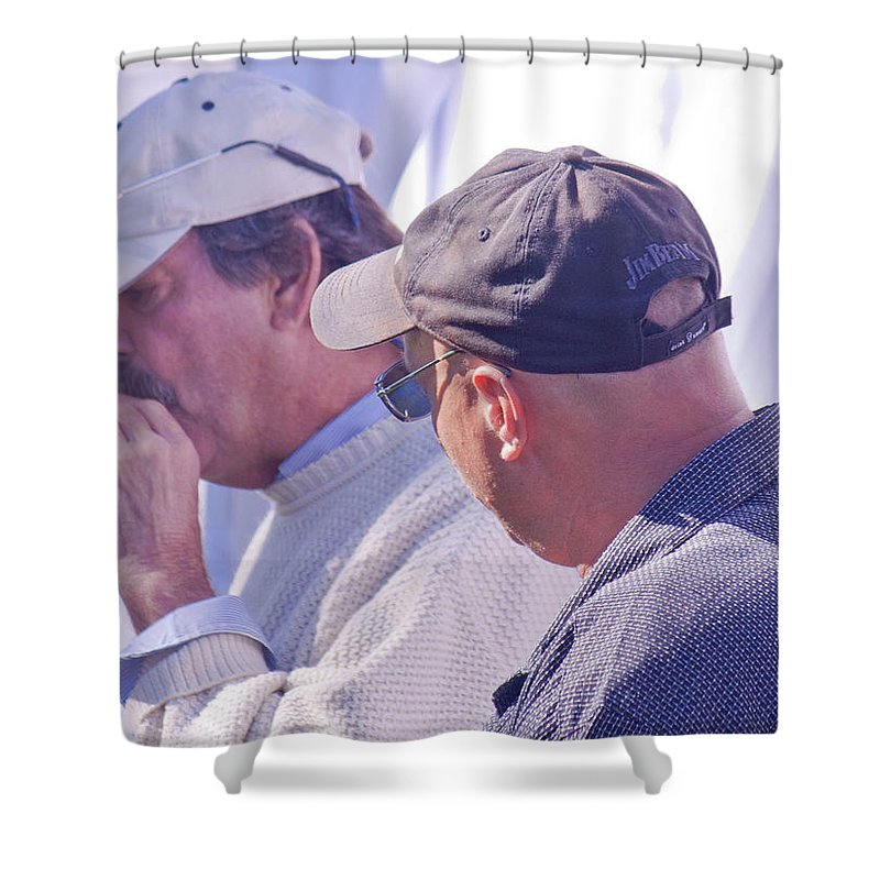 Men Shower Curtain featuring the photograph Smoke Break by Donna Walsh