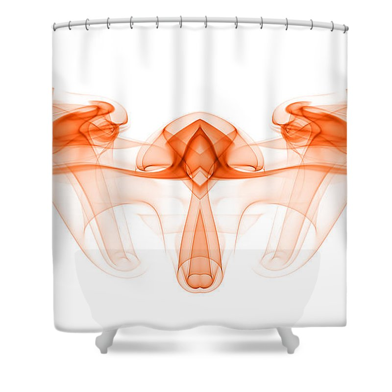 Abstract Shower Curtain featuring the photograph smoke III mb1 by Joerg Lingnau