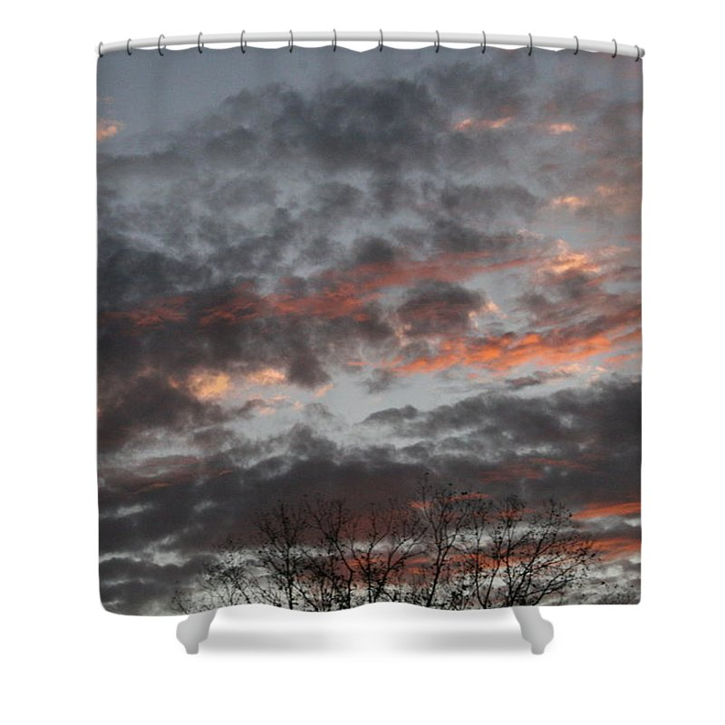 Sunset Shower Curtain featuring the photograph Smoke Like Clouds by Lynn Michelle