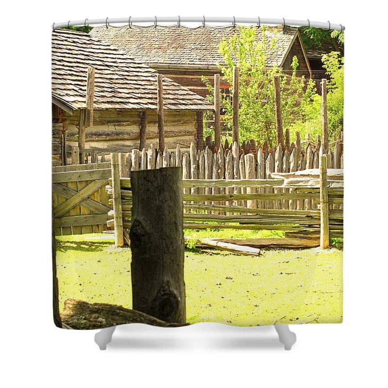 Smoke Shower Curtain featuring the photograph Smoke Rising by Ian MacDonald