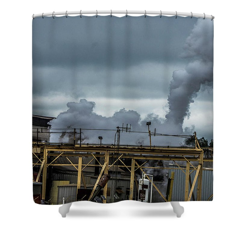Longview Shower Curtain featuring the photograph Smoky by Darrell Clakley