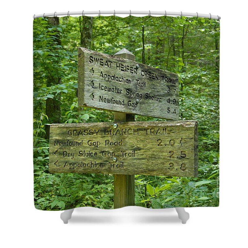 Smoky Mountain National Park Shower Curtain featuring the photograph Smoky Mountain Directional by David Lee Thompson