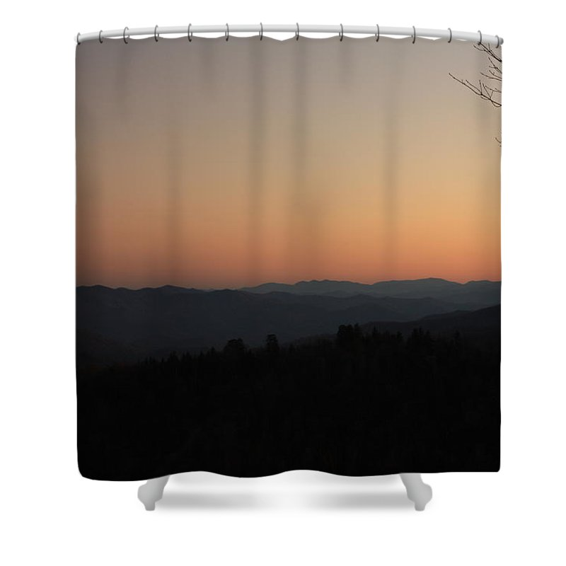 Sunset Shower Curtain featuring the photograph Smoky Mountain Sunset by Nunweiler Photography