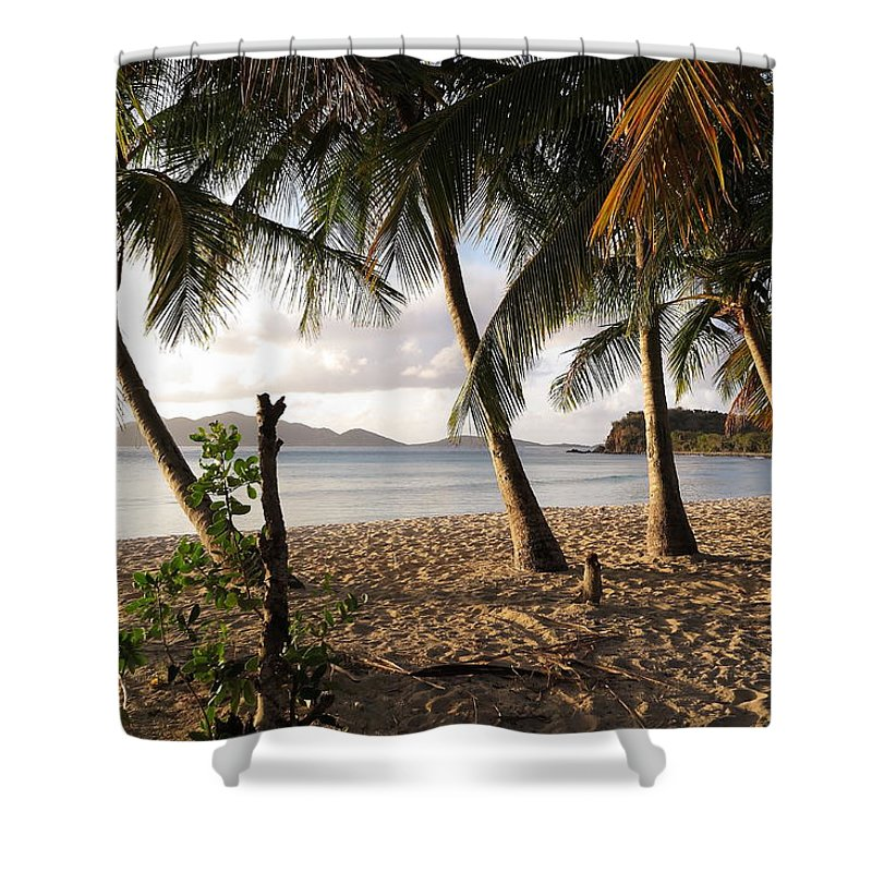 Tortola Shower Curtain featuring the photograph Day's End by Eric Glaser