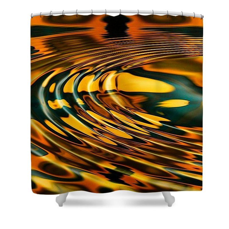 Ripple Shower Curtain featuring the digital art Snake Oil by Robert Orinski