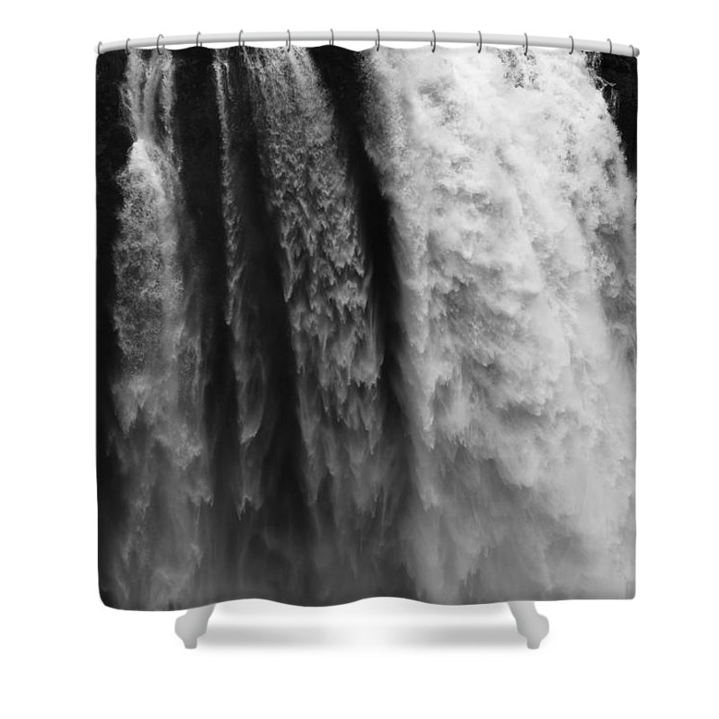 Seattle Shower Curtain featuring the photograph Snoqualmie Falls by Sandra McNair
