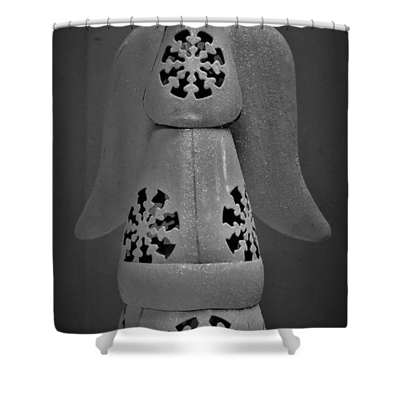 The Great Frame Up Shower Curtain featuring the photograph Snow Angel by Rob Hans
