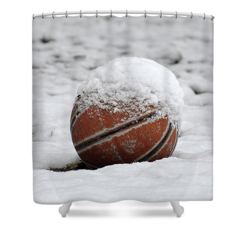 Snow Shower Curtain featuring the photograph Snow Ball by Al Powell Photography USA