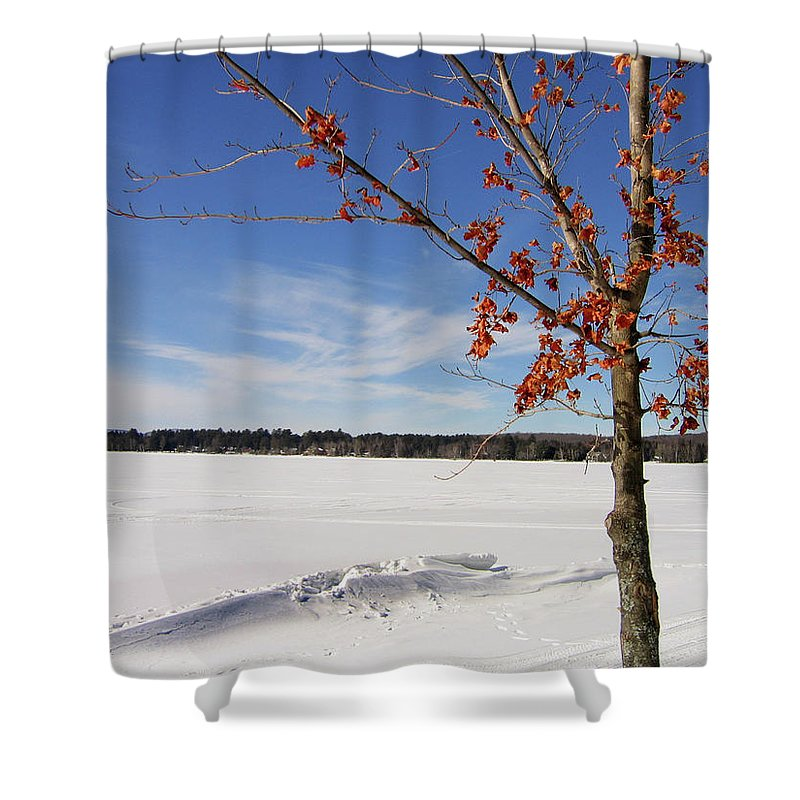 Snow Shower Curtain featuring the photograph Snow Ripple by Denise Keegan Frawley