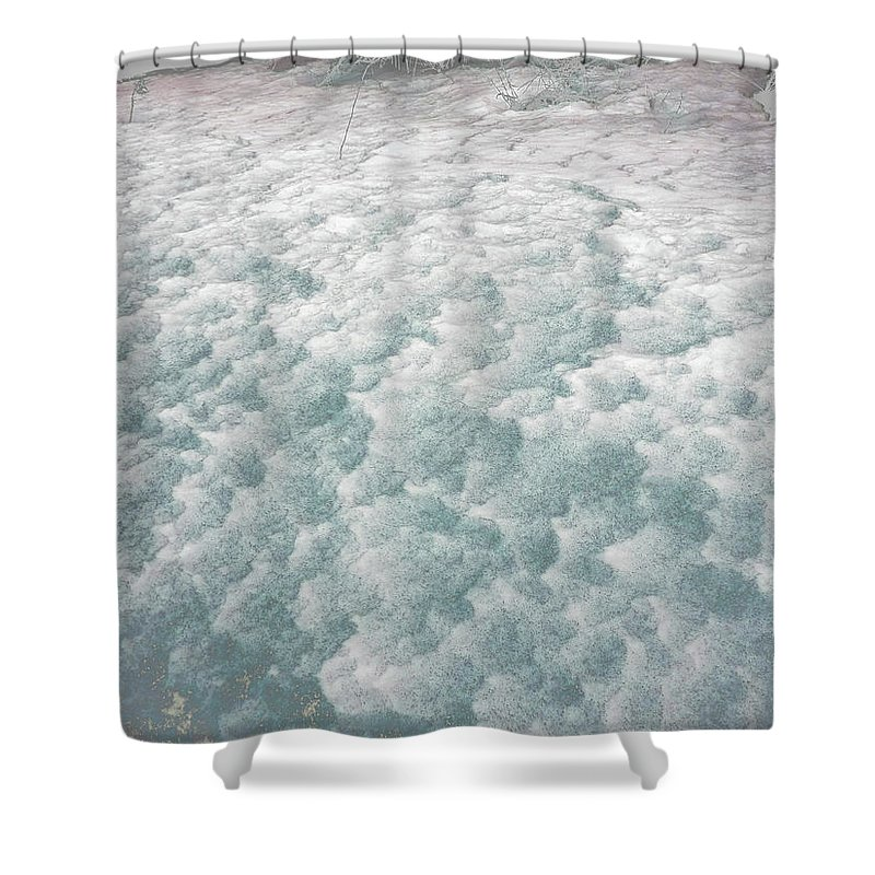Snow Shower Curtain featuring the photograph Snow Waves by Anne Cameron Cutri