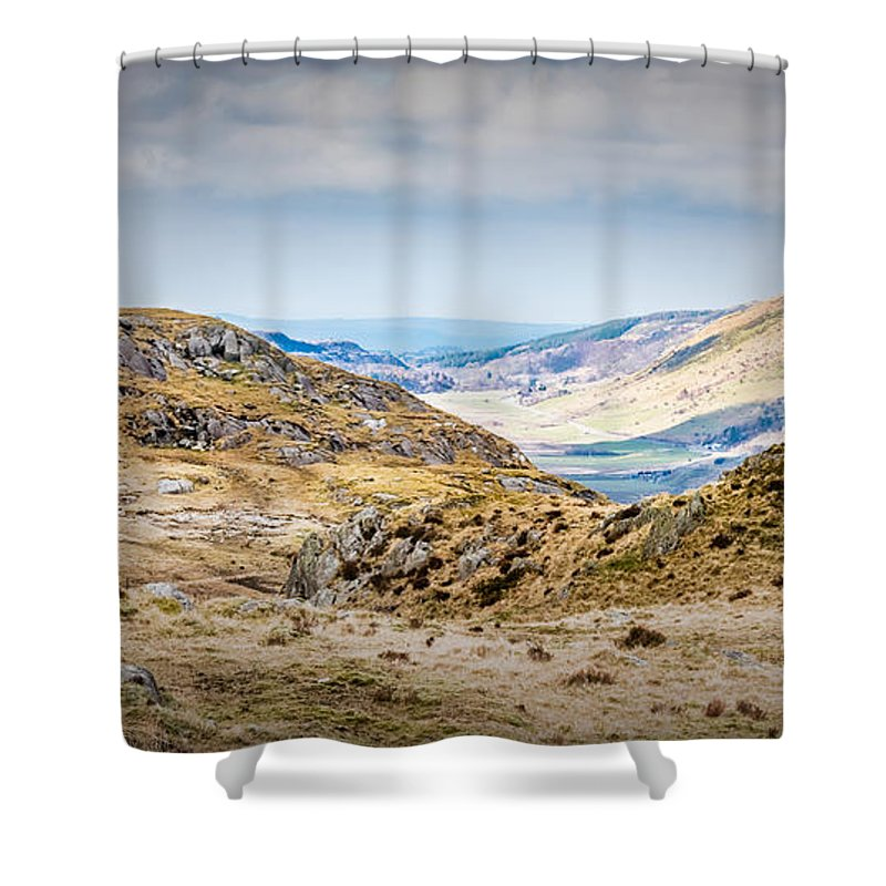 Mountain Shower Curtain featuring the photograph Snowdonia Landscape by Nick Bywater
