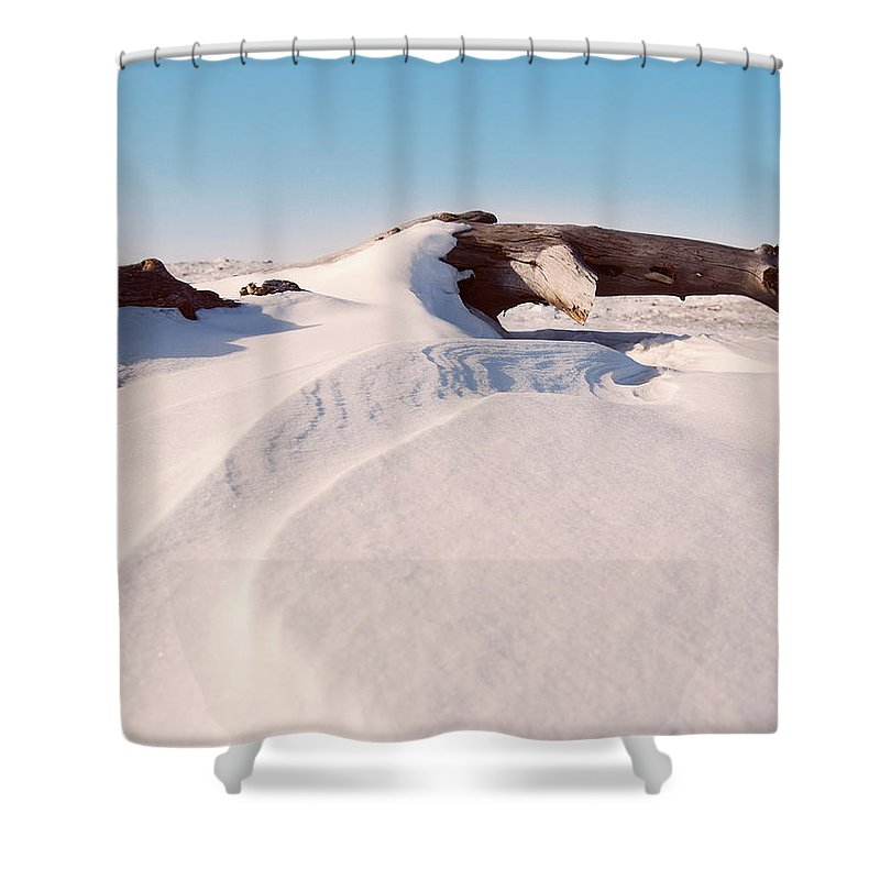 Snow Shower Curtain featuring the photograph Snowdrift by Michael Peychich