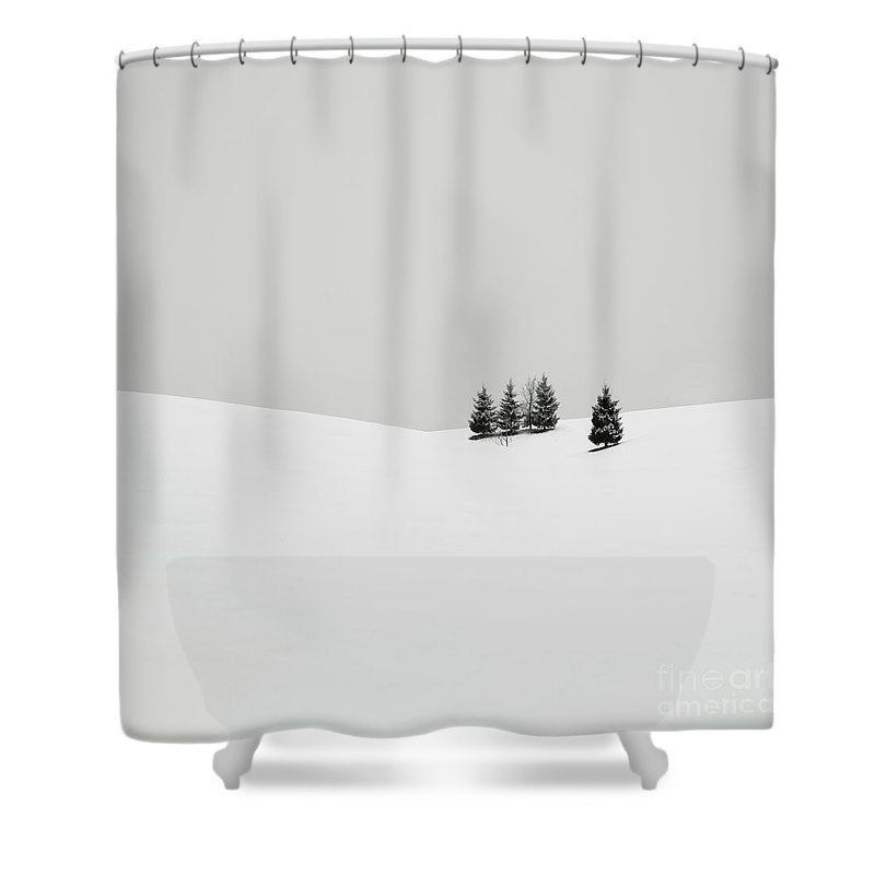 Contemporary Shower Curtain featuring the photograph Snowscapes  Almost There by Ronny Behnert