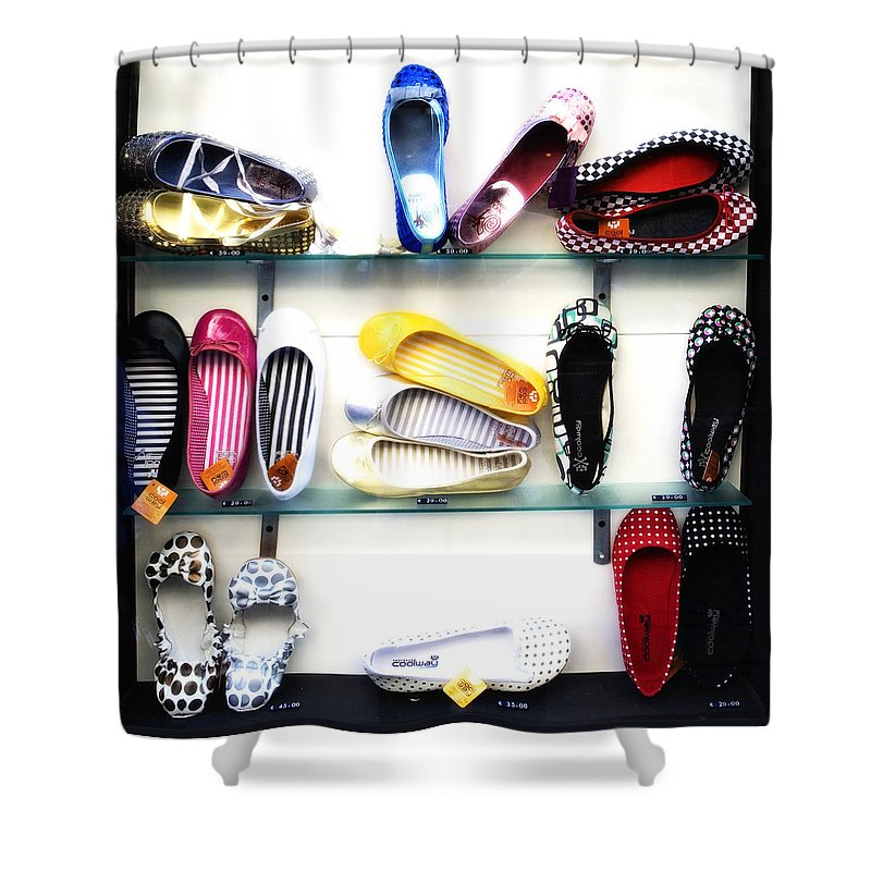 Shoes Shower Curtain featuring the photograph So Many Shoes... by Marilyn Hunt
