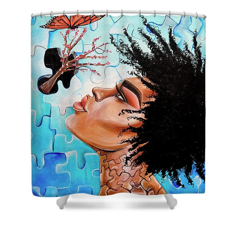 Butterfly Shower Curtain featuring the photograph So Much more to me that you just cant See by Artist RiA
