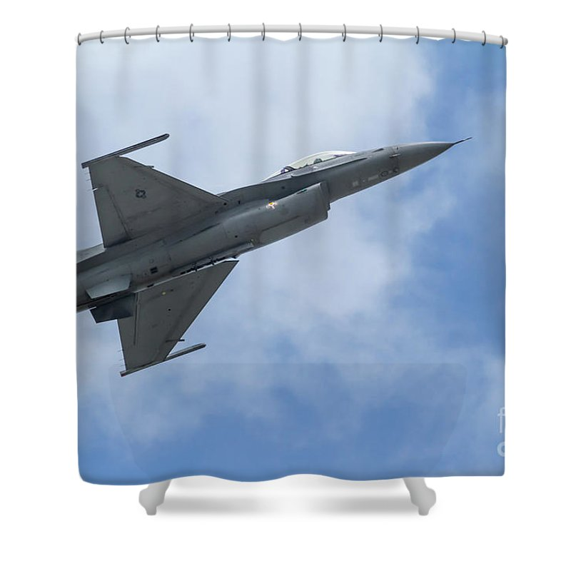 Airplanes Shower Curtain featuring the photograph Soaring Into The Blue by Jo Ann Gregg