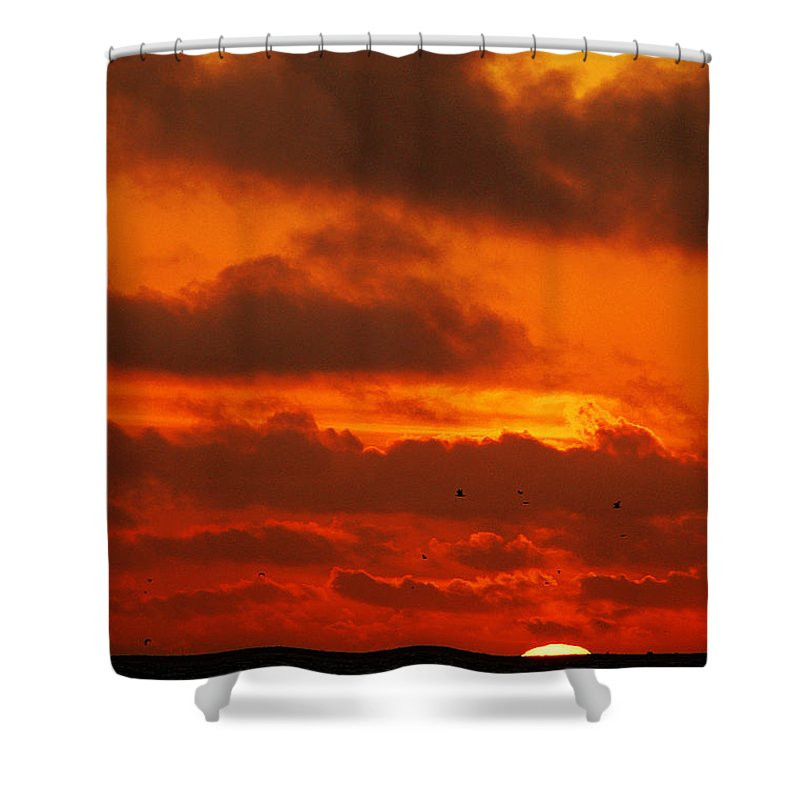 Clay Shower Curtain featuring the photograph Socal Sunset by Clayton Bruster