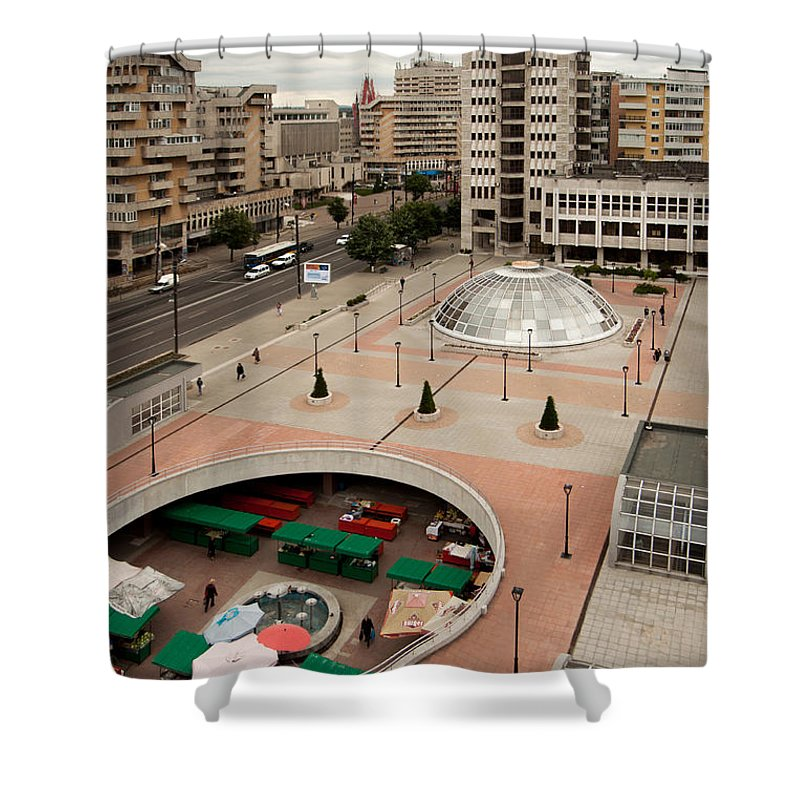 Iasi Shower Curtain featuring the photograph Socialistic Town Planning by Christian Hallweger
