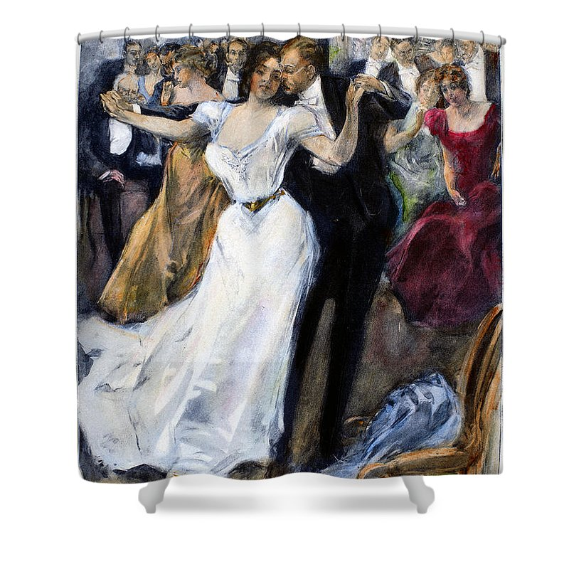 1900 Shower Curtain featuring the photograph Society Ball, C1900 by Granger