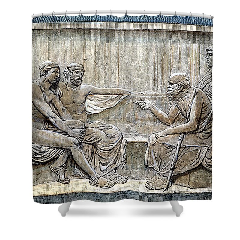 5th Century B.c Shower Curtain featuring the photograph Socrates (c380-c450) by Granger