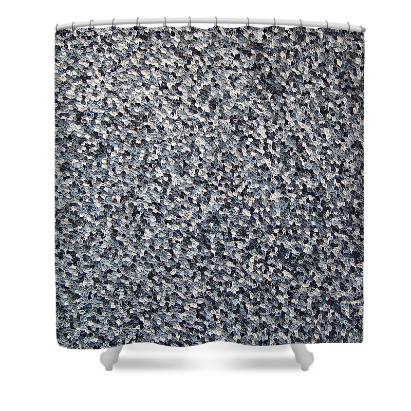 Abstract Shower Curtain featuring the painting Soft Grey Scale by Dean Triolo