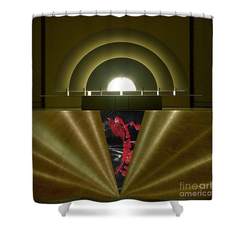 Digital Shower Curtain featuring the digital art Soft Light Hard Surface by Ron Bissett