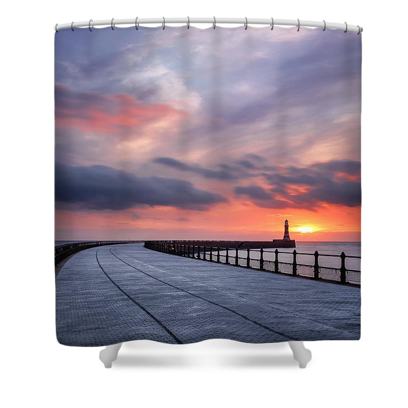North Sea Shower Curtain featuring the photograph Soft Morning Light by Brian Smith