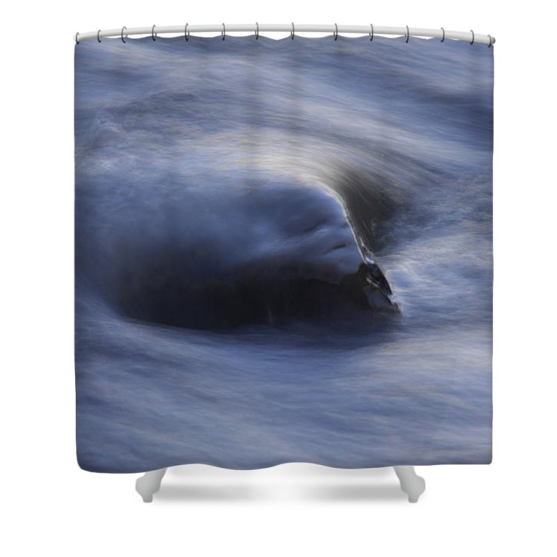 Water Shower Curtain featuring the photograph Soft Rock by Donna Blackhall