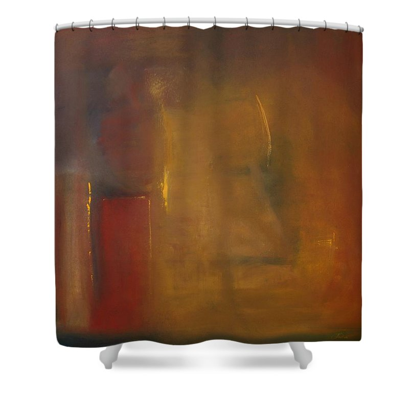 Shower Curtain featuring the painting Softly Reflecting by Jack Diamond