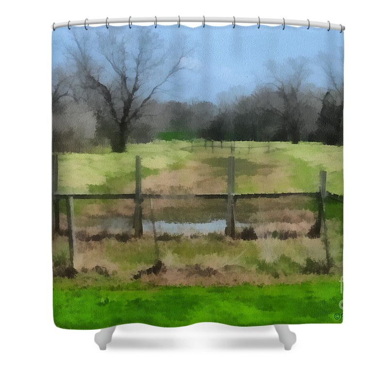 Corporate Shower Curtain featuring the photograph Soggy Texas Bayou by Paulette B Wright