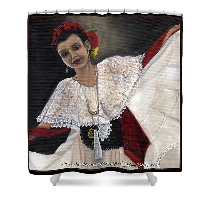 Shower Curtain featuring the painting Solita by Toni Berry