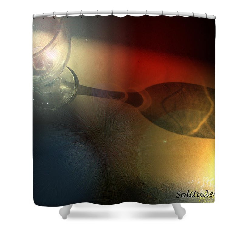 Fantasy Shower Curtain featuring the photograph Solitude A Deux by Miki De Goodaboom