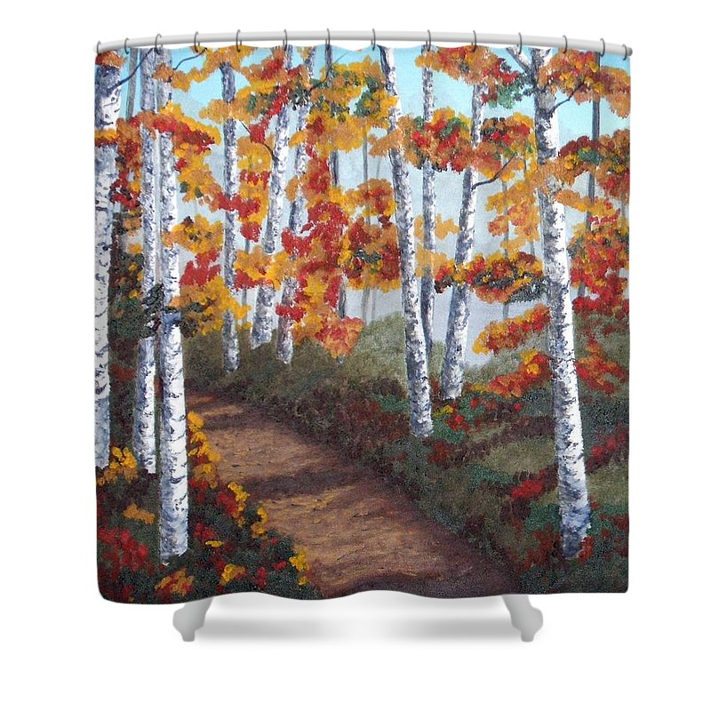 Fall Shower Curtain featuring the painting Solitude by Brandy House