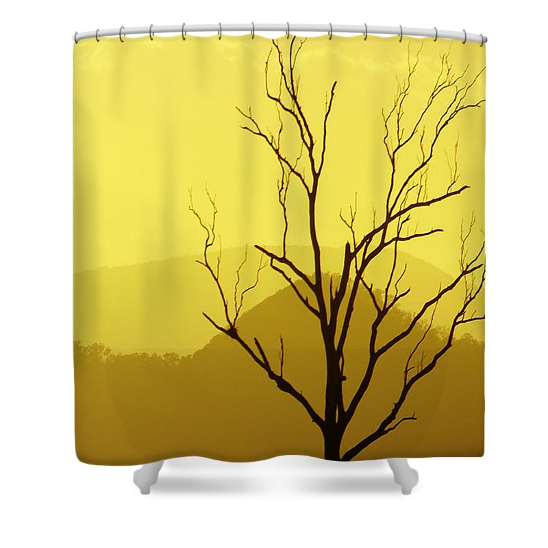 Landscape Shower Curtain featuring the photograph Solitude by Holly Kempe